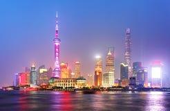 Orizzonte di Shangahi, Cina Fotografia Stock Libera da Diritti
