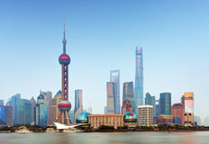 Orizzonte di Shangahi - paesaggio urbano, Cina Fotografia Stock Libera da Diritti