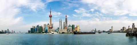 Orizzonte di Shanghai Immagine Stock Libera da Diritti