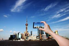 Orizzonte di Shanghai. Fotografia Stock Libera da Diritti