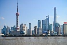 Orizzonte di Shanghai Cina Fotografie Stock Libere da Diritti