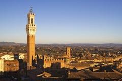 Orizzonte di Siena Fotografia Stock