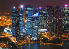 Orizzonte di Singapore Fotografie Stock