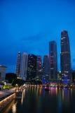 Orizzonte di Singapore Immagine Stock Libera da Diritti