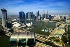 Orizzonte di Singapore della baia del porticciolo Immagine Stock