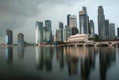Orizzonte di Singapore di mattina Fotografia Stock Libera da Diritti