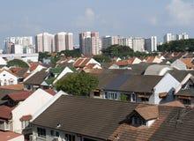 Orizzonte di Singapore di zona residenziale Immagine Stock