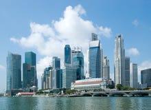 Orizzonte di Singapore, distretto finanziario Fotografia Stock Libera da Diritti
