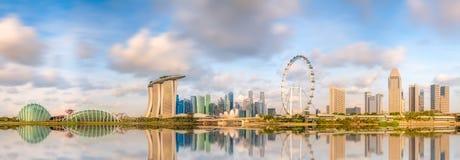 Orizzonte di Singapore e punto di vista di Marina Bay fotografie stock libere da diritti