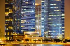 Orizzonte di Singapore e punto di vista di Marina Bay Fotografie Stock