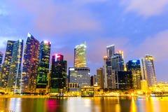 Orizzonte di Singapore e punto di vista di Marina Bay Immagini Stock