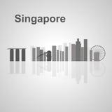 Orizzonte di Singapore per la vostra progettazione Fotografia Stock Libera da Diritti