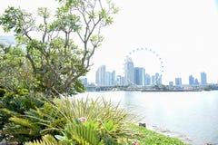 Orizzonte di Singapore per turismo fotografia stock libera da diritti