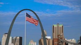 Orizzonte di St. Louis, Missouri stock footage