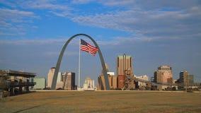 Orizzonte di St. Louis, Missouri video d archivio