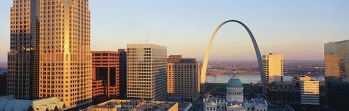 Orizzonte di St. Louis Missouri Fotografia Stock