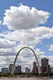 Orizzonte di St. Louis, Missouri Fotografie Stock
