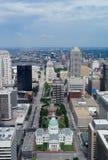 Orizzonte di St. Louis, Missouri, U.S.A. fotografia stock