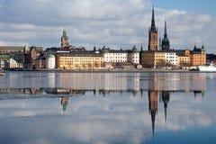 Orizzonte di Stoccolma Fotografie Stock Libere da Diritti