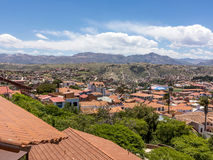 Orizzonte di Sucre, Bolivia Fotografie Stock