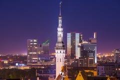 Orizzonte di Tallinn Estonia Fotografie Stock