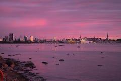 Orizzonte di Tallinn - osservata dall'est immagini stock