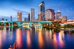 Orizzonte di Tampa, Florida Immagini Stock Libere da Diritti