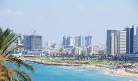 Orizzonte di Tel Aviv fotografie stock