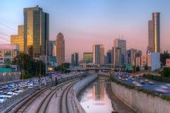 Orizzonte di Tel Aviv Immagini Stock