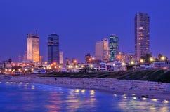 Orizzonte di Tel Aviv Fotografia Stock Libera da Diritti