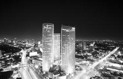 Orizzonte di Tel Aviv a Immagini Stock