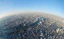 Orizzonte di Tokyo dalla torre Fotografia Stock