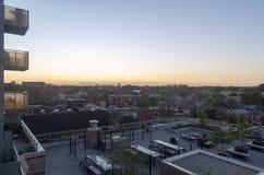 Orizzonte di Toronto al tramonto Immagine Stock Libera da Diritti
