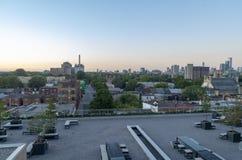 Orizzonte di Toronto al tramonto 3 Fotografia Stock Libera da Diritti