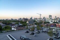 Orizzonte di Toronto al tramonto 4 Immagini Stock Libere da Diritti