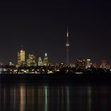 Orizzonte di Toronto alla notte Fotografie Stock