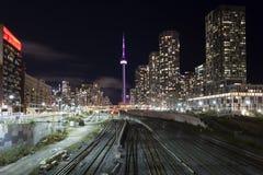 Orizzonte di Toronto alla notte, Canada Fotografia Stock Libera da Diritti