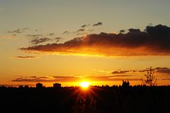 Orizzonte di tramonto immagini stock libere da diritti