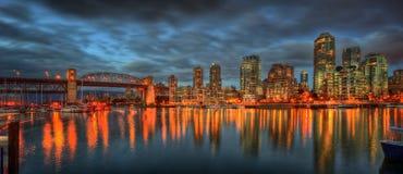 Orizzonte di Vancouver fotografie stock libere da diritti