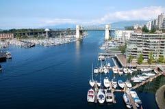 Orizzonte di Vancouver fotografie stock