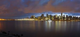 Orizzonte di Vancouver Immagini Stock Libere da Diritti