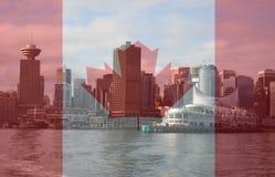 Orizzonte di Vancouver dal traghetto Immagine Stock