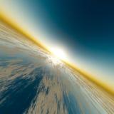Orizzonte di velocità di Sun Fotografie Stock