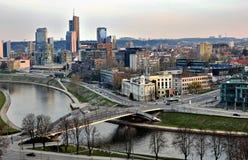Orizzonte di Vilnius, Lituania Fotografie Stock