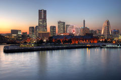 Orizzonte di Yokohama, Giappone Immagini Stock Libere da Diritti