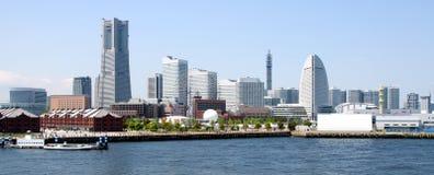 Orizzonte di Yokohama, Giappone fotografia stock libera da diritti