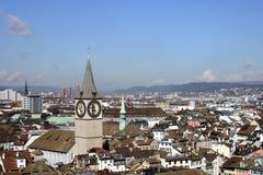 Orizzonte di Zurigo Immagini Stock