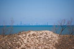 Orizzonte distante di Chicago Fotografia Stock Libera da Diritti