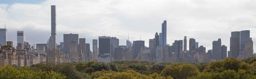 Orizzonte e Central Park di New York Immagini Stock Libere da Diritti
