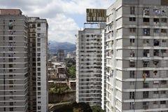 Orizzonte e costruzioni di Caracas Immagini Stock